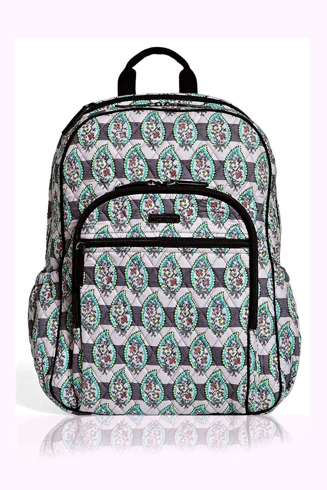 231fcd3cfd Vera Bradley Paisley Stripes Campus-Tech-Backpack - Front Cropped Image