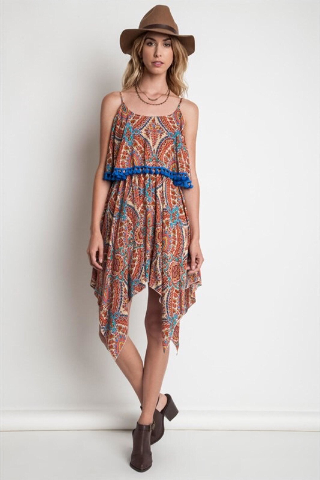 People Outfitter Paisley Tassels Dress - Main Image