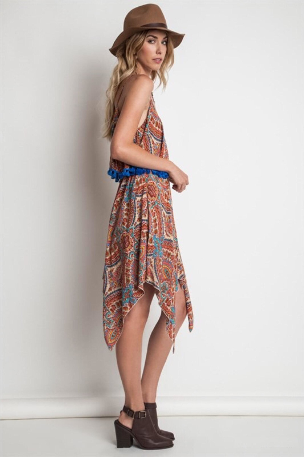 People Outfitter Paisley Tassels Dress - Front Full Image