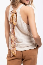 Blu Pepper Paisley Tie Back Tank - Front cropped