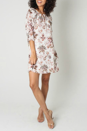 Funky Soul Paisley Tie Front Ruffle Sleeve Dress - Front cropped