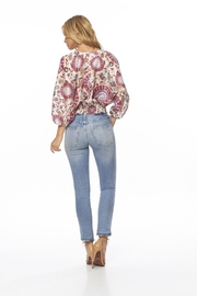 On The Road Paisley Top - Back cropped