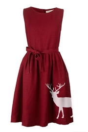 Palava Mabel Reindeer Linen Dress - Product Mini Image