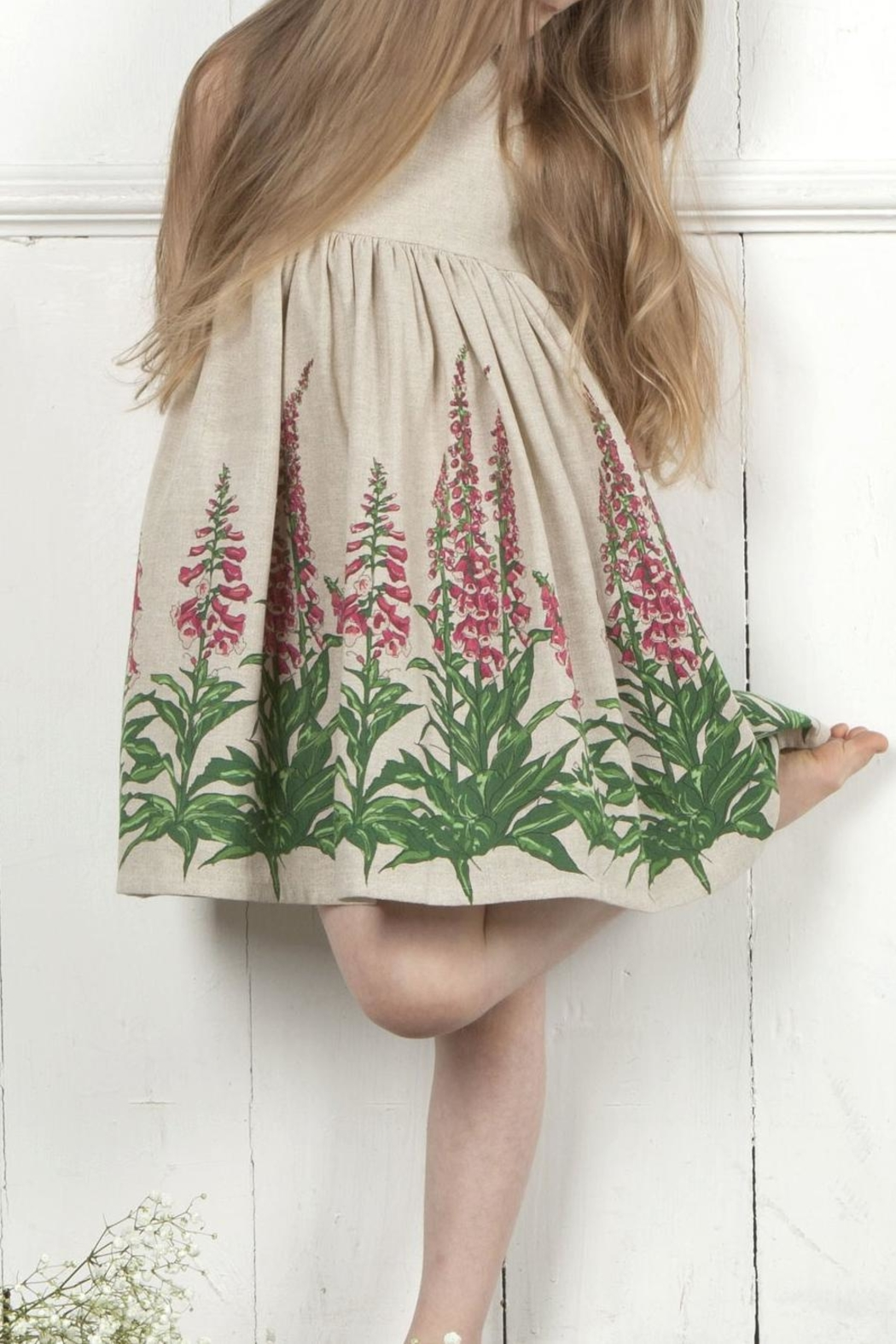 Palava Rosie Linen Foxgloves - Side Cropped Image