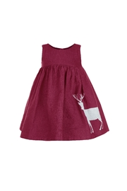 Palava Rosie Reindeer Linen Dress - Product Mini Image