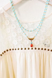 Scout Clothing & Decor Pale Aqua Necklace - Front full body