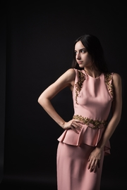 Reem Acra Pale Pink Gown - Product Mini Image