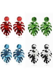 Mimi's Gift Gallery Palm Acetate Earrings - Product Mini Image