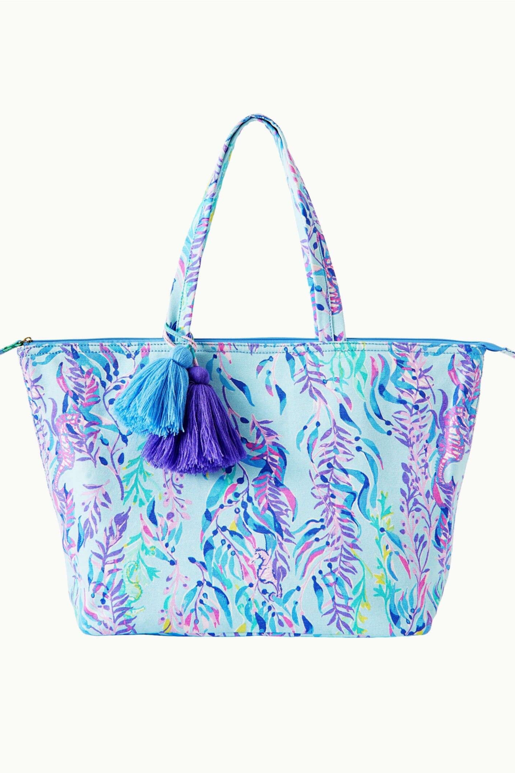 Lilly Pulitzer  Palm Beach Zip-Up Tote - Front Cropped Image