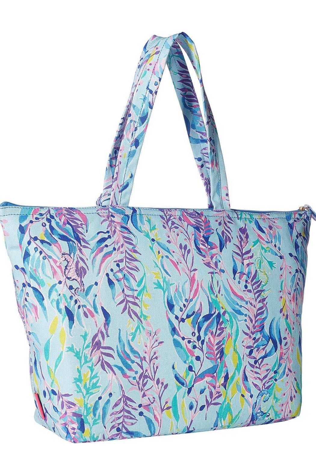 Lilly Pulitzer  Palm Beach Zip-Up Tote - Front Full Image