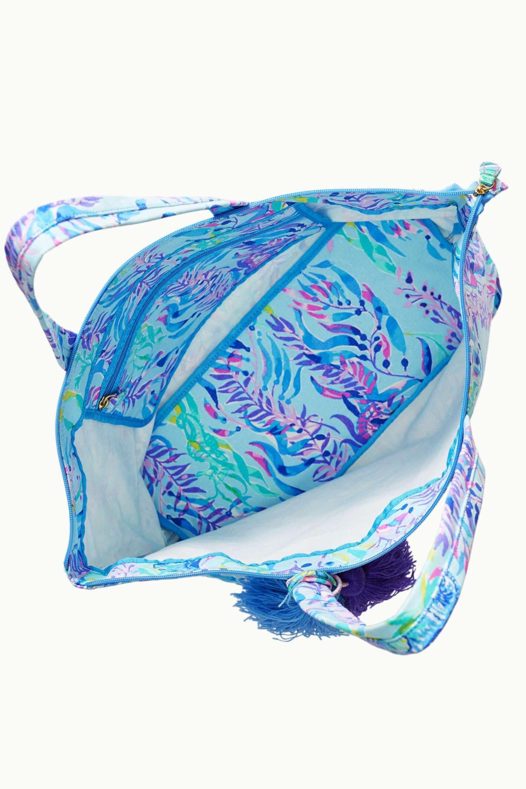 Lilly Pulitzer  Palm Beach Zip-Up Tote - Side Cropped Image