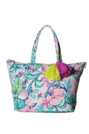 Lilly Pulitzer  Palm Beach Zip-Up Tote - Front cropped