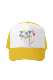 Grom Squad Palm Heart Trucker Hat - Product Mini Image