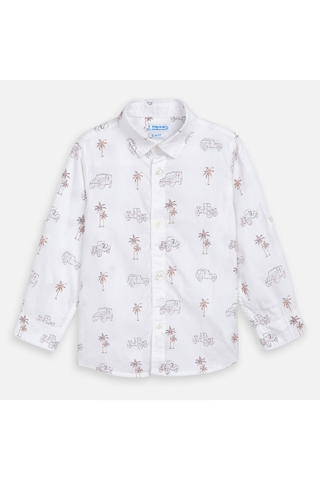 Mayoral Palm Jeep Long Sleeve Shirt - Front Full Image