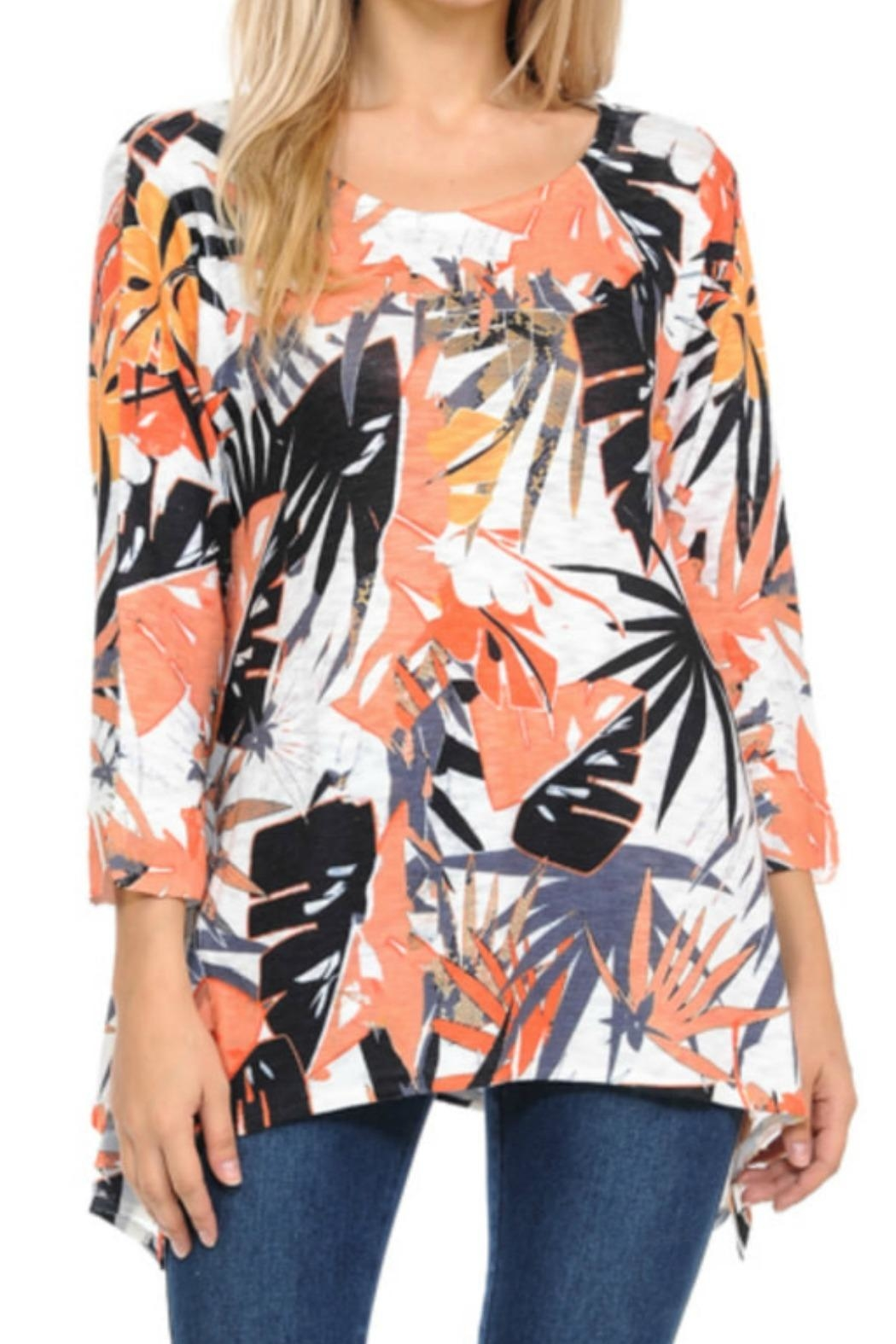 Cubism Palm Knit Tunic - Front Cropped Image