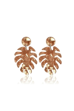 Mimi's Gift Gallery Palm Leaf Acetate-Earrings - Product List Image