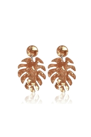 Mimi's Gift Gallery Palm Leaf Acetate-Earrings - Product Mini Image
