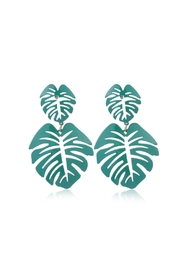Mimi's Gift Gallery Palm Leaf Earrings - Front cropped