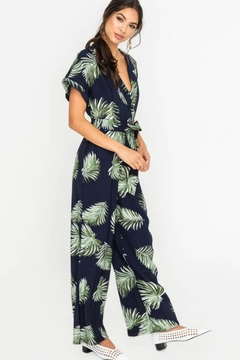 Lush Palm Leaf Jumpsuit - Alternate List Image