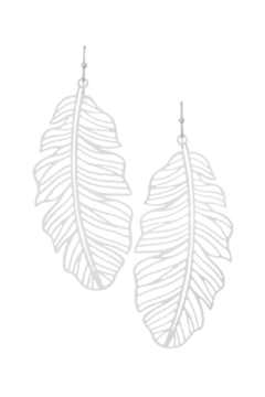 Girly Palm Leaf Laser Cut Earrings - Product List Image