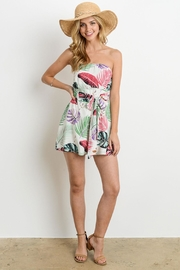 Charme U Palm Leaf Romper - Product Mini Image