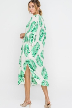 Lush Palm Long Kimono - Alternate List Image