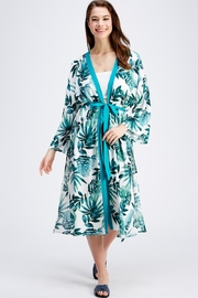 En Creme Palm Maxi Robe - Product Mini Image