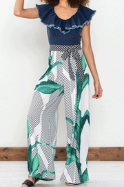 Flying Tomato Palm Palazzo Pant - Front cropped