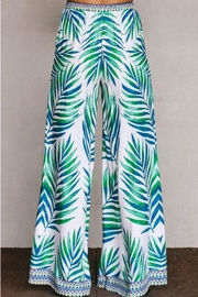 Flying Tomato Palm Palazzo Pants - Side cropped