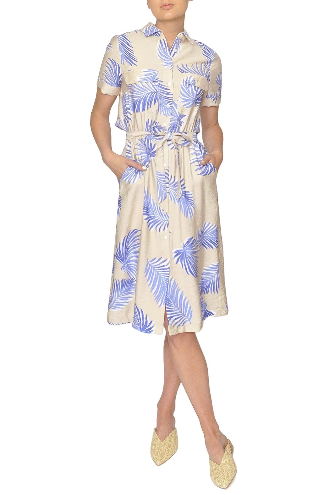 FRNCH Palm Print Dress - Main Image