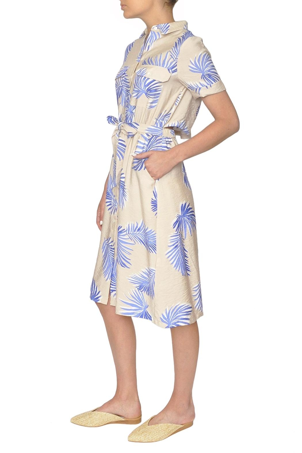 FRNCH Palm Print Dress - Front Full Image