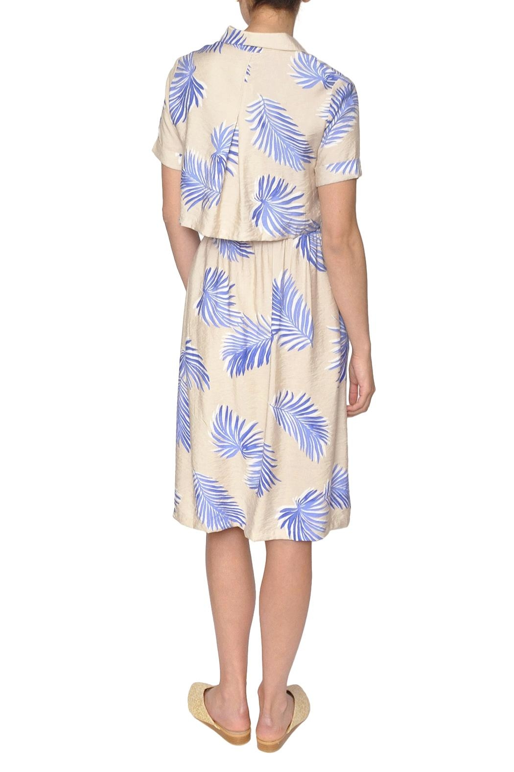 FRNCH Palm Print Dress - Side Cropped Image