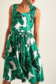 Yumi Palm Print Dress - Product Mini Image