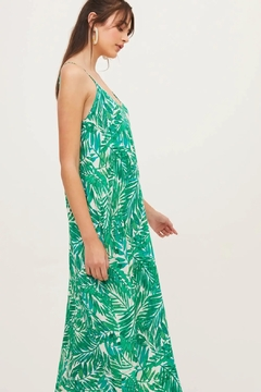 Lush  Palm Print Maxi - Product List Image