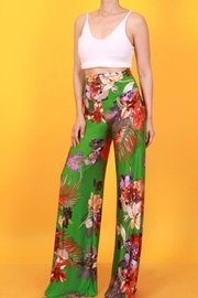 SJ Style Palm Print Palazzo - Front cropped