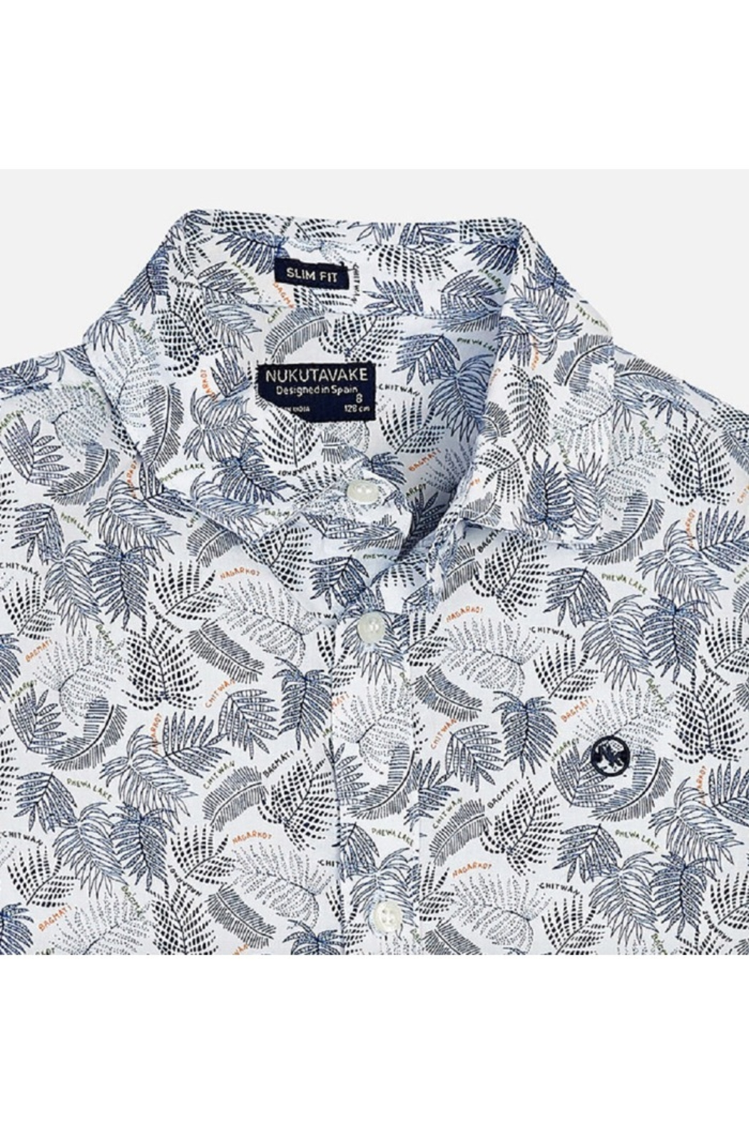 Mayoral PALM PRINT S/S SHIRT - Front Full Image
