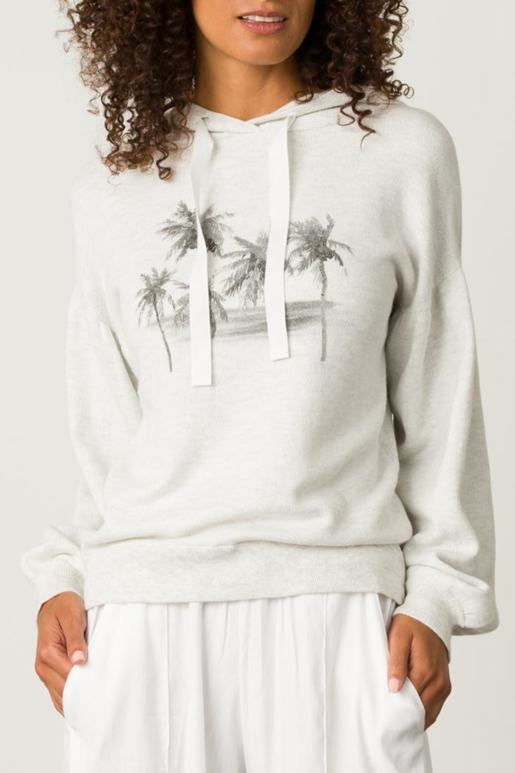 Margaret O'Leary Palm Tree Hoodie - Back Cropped Image
