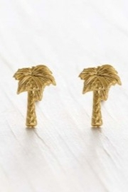 Amano Trading Palm Tree Stud Earrings - Product Mini Image