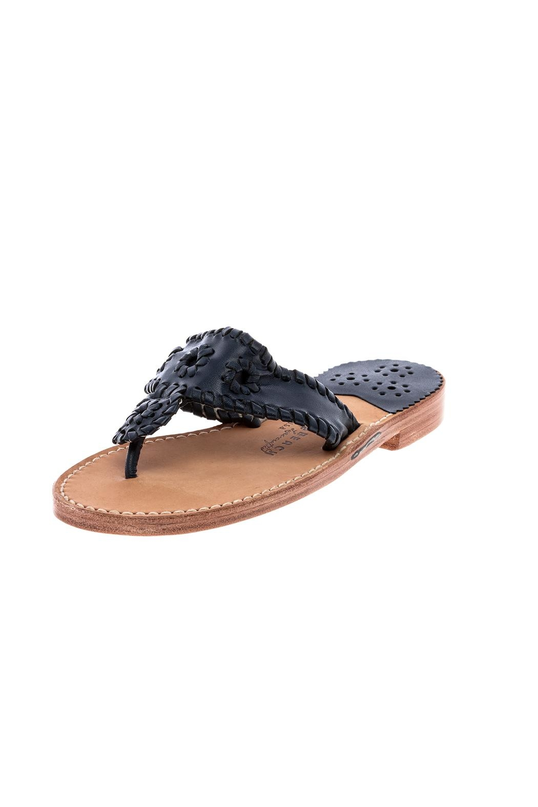 Palm Beach Collection Leather Sandals - Flipflops - Main Image