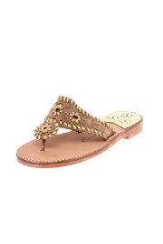 Palm Beach Collection Leather Sandals - Flipflops - Front cropped