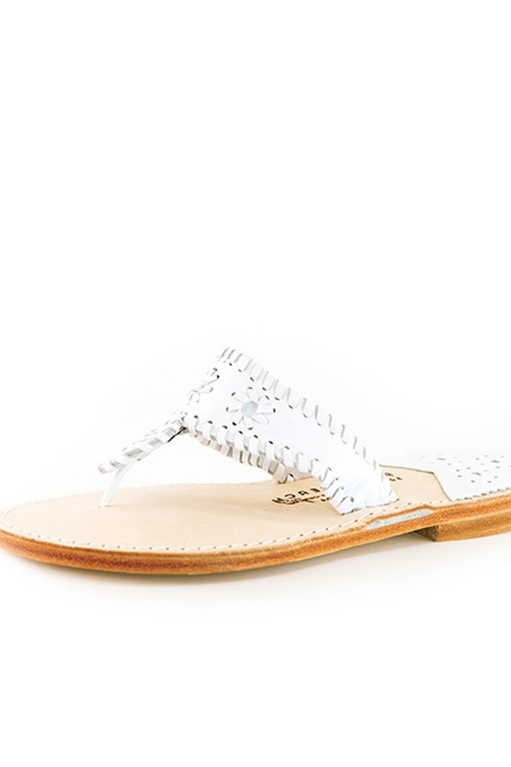 Palm Beach Collection Leather Sandals - Flipflops - Front Cropped Image