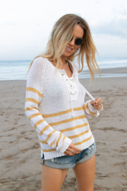 Wooden Ships Palmer Laced Cotton Top - Side cropped