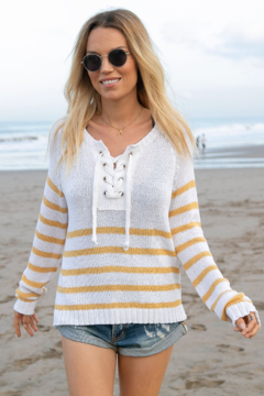Wooden Ships Palmer Laced Cotton Top - Product List Image