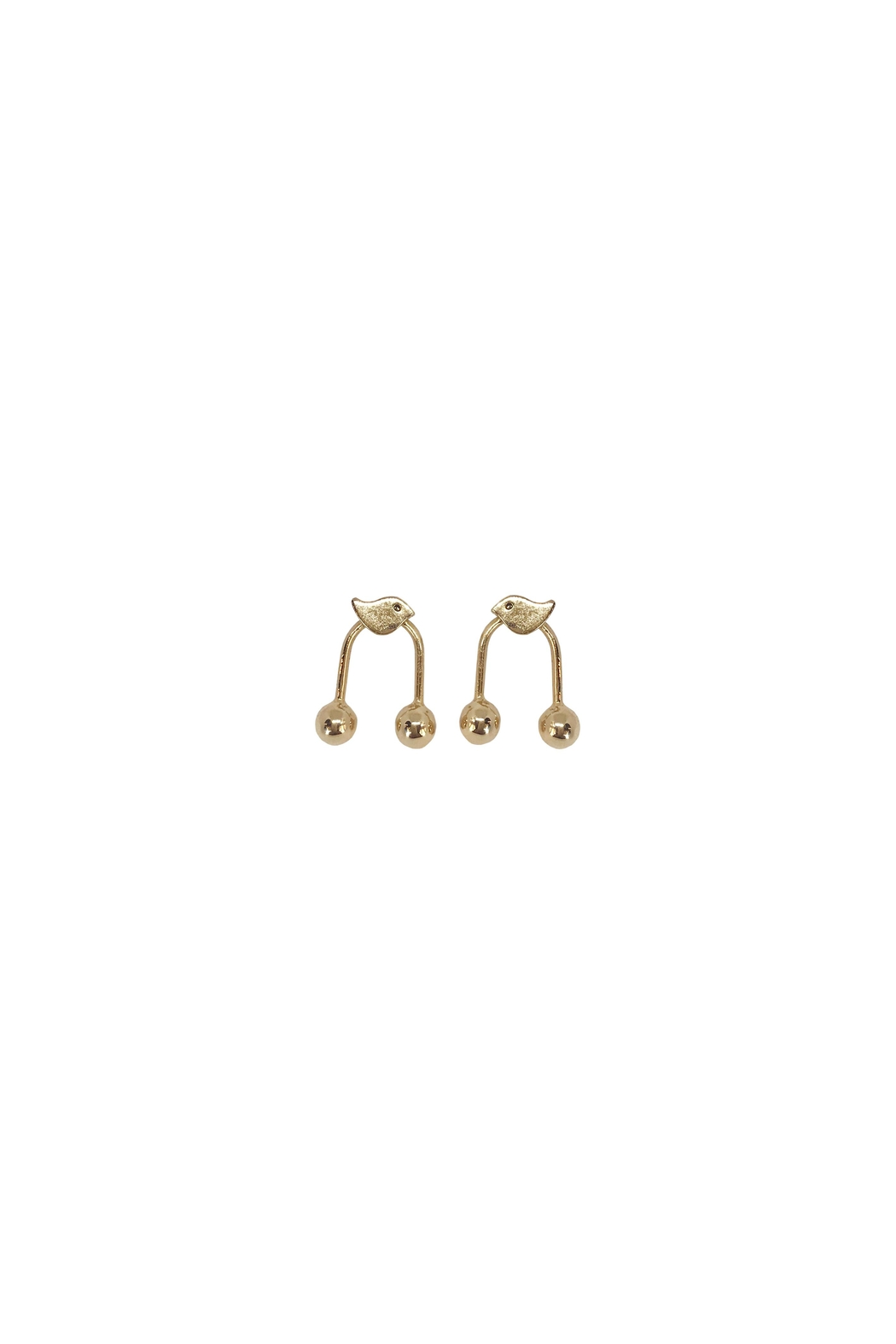 Cuca y Paloma Paloma 2gold Earrings - Front Cropped Image