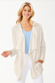 Tommy Bahama Paloma Linen Draped Cardigan - Product Mini Image
