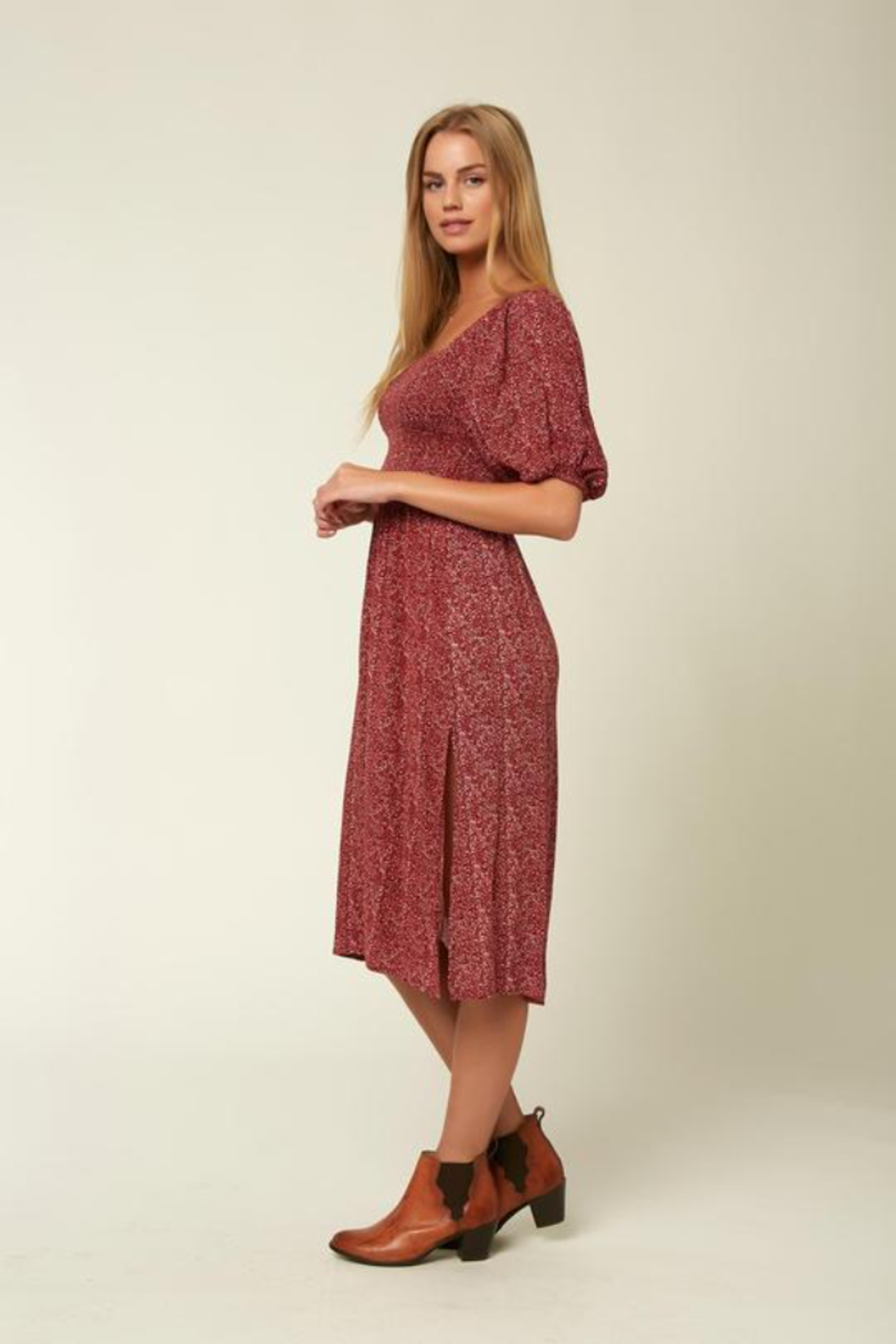O'Neill Paloma Midi Dress - Front Full Image