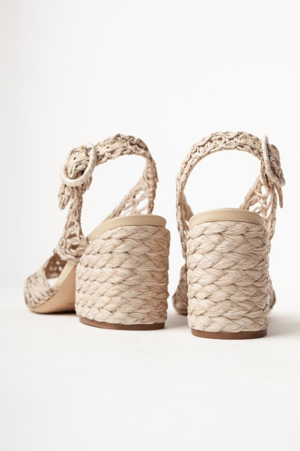 PALOMA BARCELO Millicent Cord Rafia Taupe - Side Cropped Image
