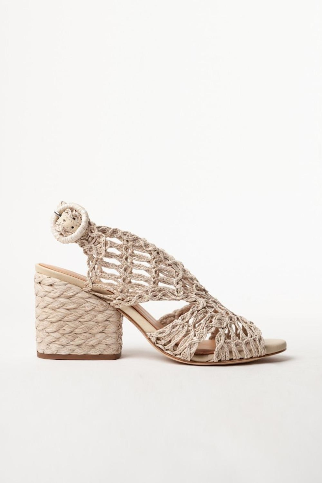 PALOMA BARCELO Millicent Cord Rafia Taupe - Front Full Image