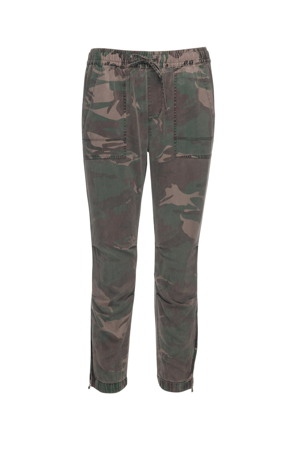 Pam & Gela Camo Cargo Zipper Pants - Front Cropped Image