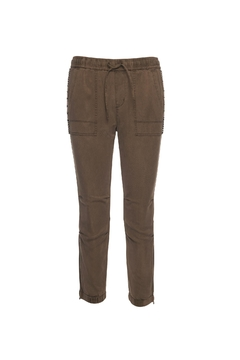 Pam & Gela Cargo Zipper Beaded Pant - Product List Image